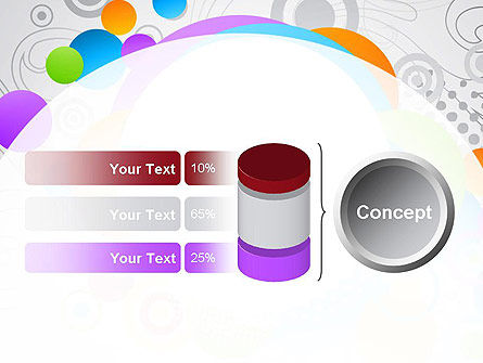 Abstract Colored Circles PowerPoint Template Slide 11