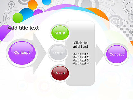 Abstract Colored Circles PowerPoint Template Slide 17