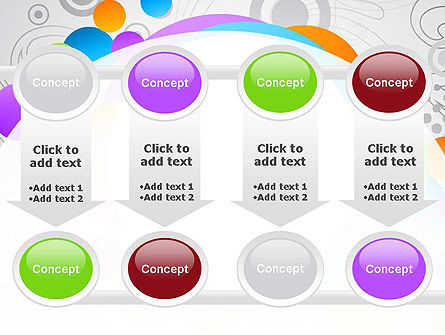 Abstract Colored Circles PowerPoint Template Slide 18