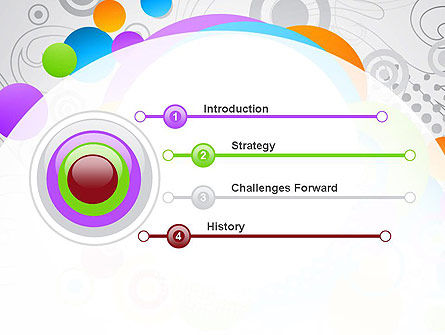 Abstract Colored Circles PowerPoint Template, Slide 3, 12089, Abstract/Textures — PoweredTemplate.com