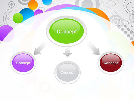 Abstract Colored Circles PowerPoint Template Slide 4