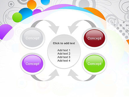 Abstract Colored Circles PowerPoint Template Slide 6