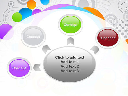 Abstract Colored Circles PowerPoint Template Slide 7