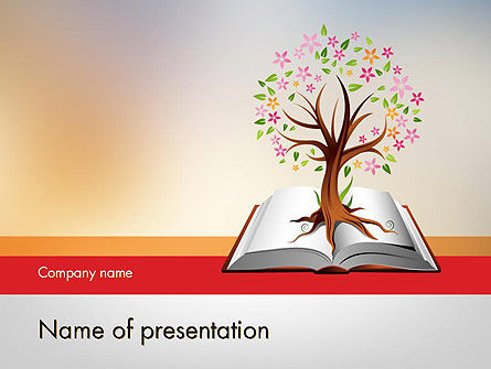 Education & Training: Fairytale Tree PowerPoint Template #12090