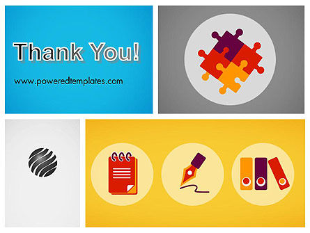 Presentation with Flat Icons PowerPoint Template Slide 20