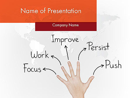 Success Principles PowerPoint Template, 12092, Education & Training — PoweredTemplate.com