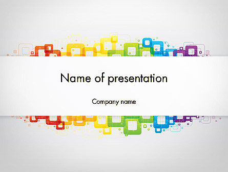 Colorful Squares PowerPoint Template