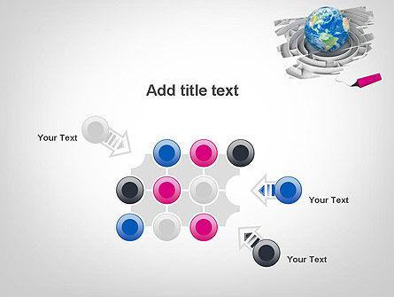 Earth in Maze PowerPoint Template Slide 10
