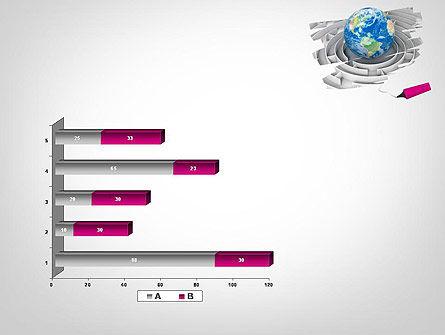 Earth in Maze PowerPoint Template Slide 11