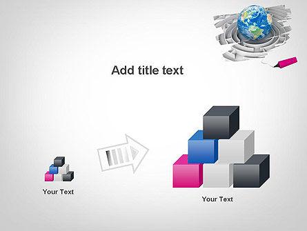 Earth in Maze PowerPoint Template Slide 13