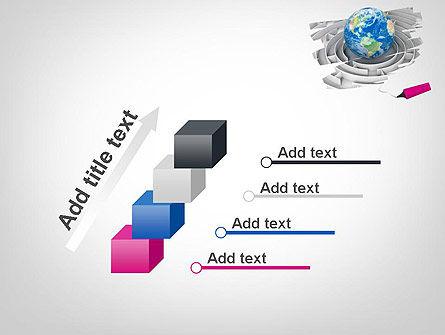 Earth in Maze PowerPoint Template Slide 14