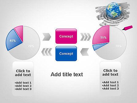 Earth in Maze PowerPoint Template Slide 16