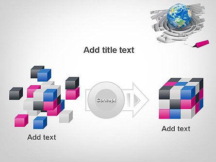 Earth in Maze PowerPoint Template Slide 17