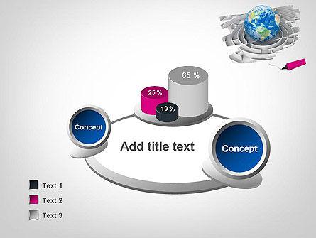 Earth in Maze PowerPoint Template Slide 6