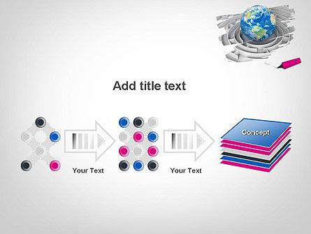 Earth in Maze PowerPoint Template Slide 9