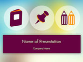Education & Training: Presentation with Big Flat Icons PowerPoint Template #12096