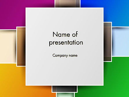 Colored Rectangles PowerPoint Template, 12097, Abstract/Textures — PoweredTemplate.com