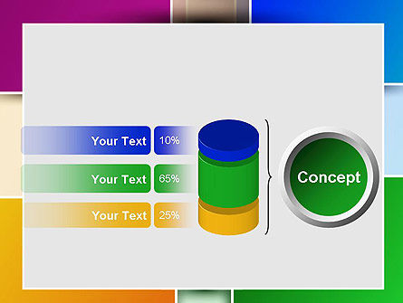 Colored Rectangles PowerPoint Template Slide 11