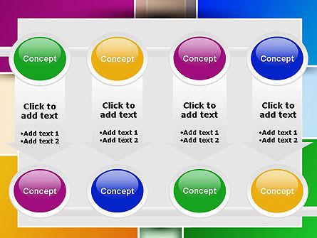 Colored Rectangles PowerPoint Template Slide 18