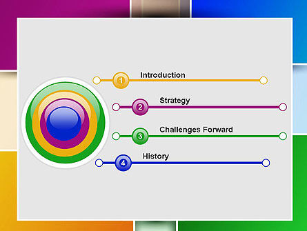 Colored Rectangles PowerPoint Template Slide 3