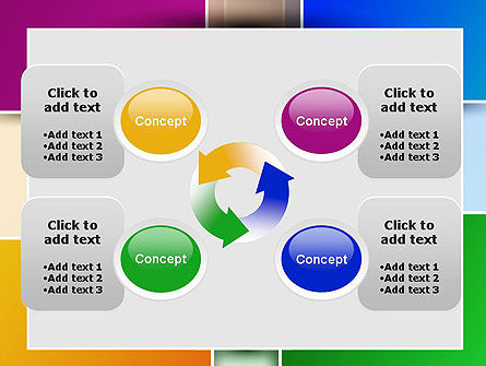 Colored Rectangles PowerPoint Template Slide 9