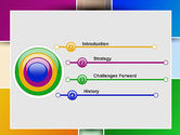 Colored Rectangles PowerPoint Template#3