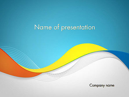 Tricolor Wave PowerPoint Template, 12099, Abstract/Textures — PoweredTemplate.com
