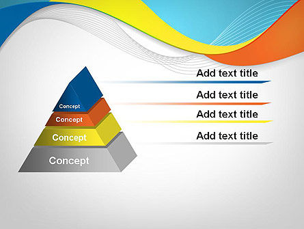 Tricolor Wave PowerPoint Template Slide 12