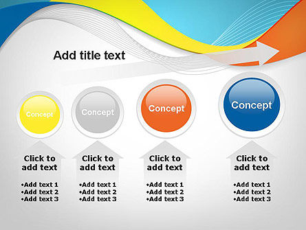Tricolor Wave PowerPoint Template Slide 13