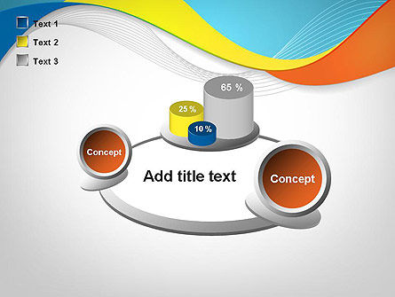 Tricolor Wave PowerPoint Template Slide 16