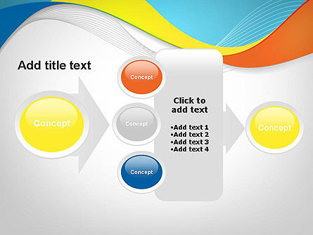 Tricolor Wave PowerPoint Template Slide 17