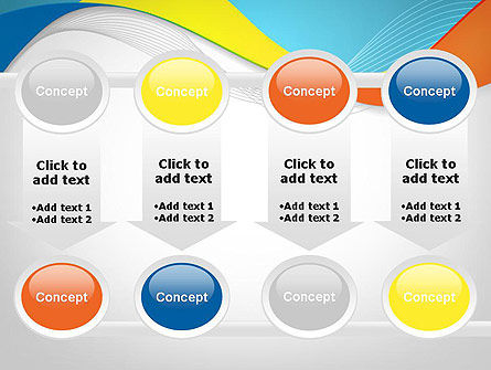 Tricolor Wave PowerPoint Template Slide 18