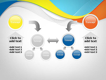 Tricolor Wave PowerPoint Template Slide 19