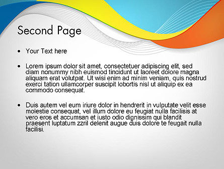 Tricolor Wave PowerPoint Template Slide 2