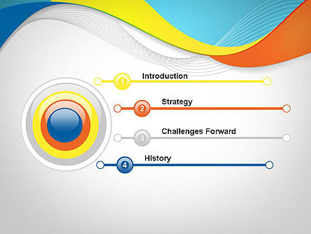 Tricolor Wave PowerPoint Template Slide 3