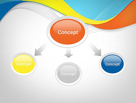 Tricolor Wave PowerPoint Template Slide 4