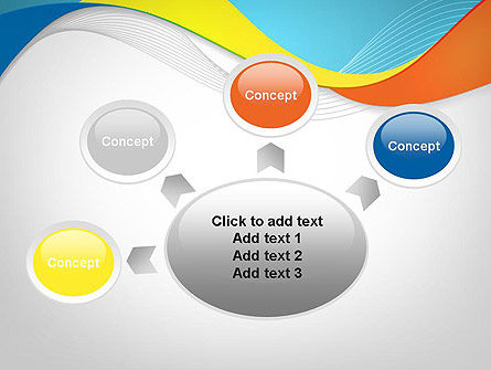 Tricolor Wave PowerPoint Template Slide 7