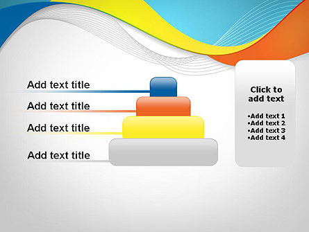 Tricolor Wave PowerPoint Template Slide 8