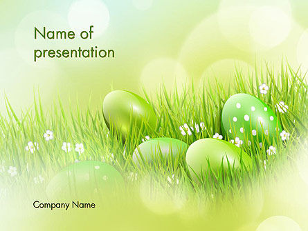 Easter Theme PowerPoint Template, 12100, Religious/Spiritual — PoweredTemplate.com