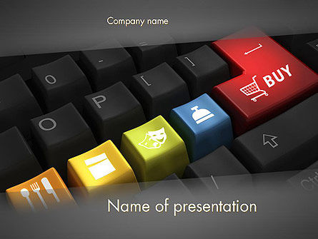 Cyber Monday PowerPoint Template, 12101, Holiday/Special Occasion — PoweredTemplate.com