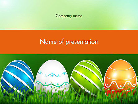 Painted Eggs PowerPoint Template, 12103, Holiday/Special Occasion — PoweredTemplate.com