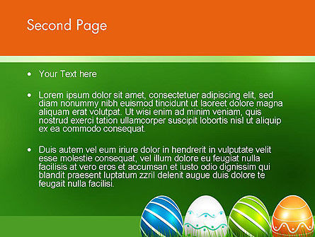Painted Eggs PowerPoint Template, Slide 2, 12103, Holiday/Special Occasion — PoweredTemplate.com