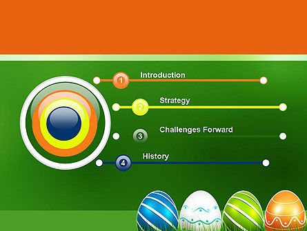 Painted Eggs PowerPoint Template, Slide 3, 12103, Holiday/Special Occasion — PoweredTemplate.com