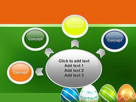 Painted Eggs PowerPoint Template Slide 7