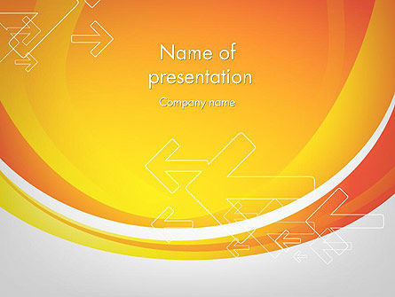 Arrows on Orange PowerPoint Template