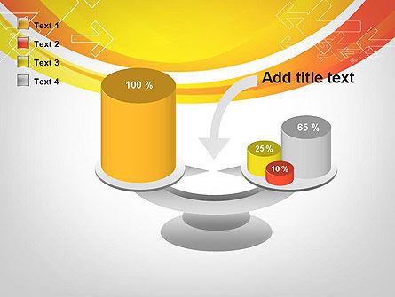 Arrows on Orange PowerPoint Template Slide 10