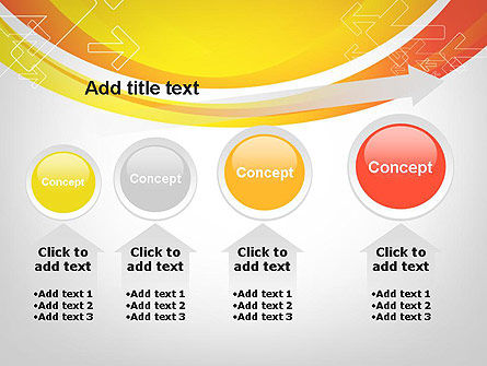 Arrows on Orange PowerPoint Template Slide 13
