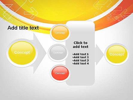 Arrows on Orange PowerPoint Template Slide 17