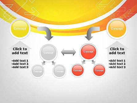 Arrows on Orange PowerPoint Template Slide 19