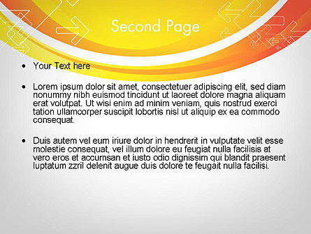 Arrows on Orange PowerPoint Template Slide 2